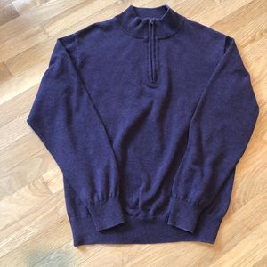 Other - Men's cotton sweater eggplant color size med